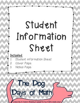 Student Information and Contact Sheet - Chevron