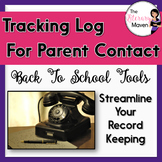 Parent Contact Log for Tracking Communication