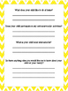 Student Information and Parent Helper Forms-Yellow