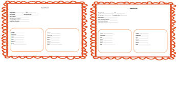 Student Information editable PPT