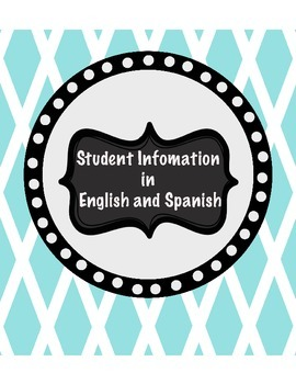Student Information in English and Spanish
