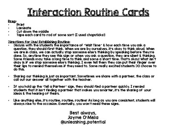 Student Interaction and Response Routines