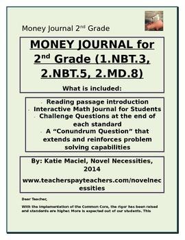 2nd Grade Money Unit Student Interactive Journal