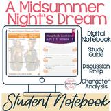 Shakespeare's A Midsummer Night's Dream: Student Interactive Notebook (Digital)