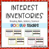 Student Interest Inventories for Google Slides