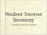 Student Interest Inventory