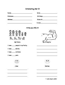 Student Interest Inventory (Autism)