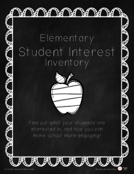 Student Interest Inventory - Elementary Student Survey