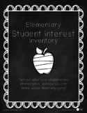 Student Interest Inventory - Elementary Student Survey