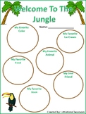 Student Interest Inventory - Jungle Theme