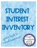Student Interest Inventory (Print and Go!)