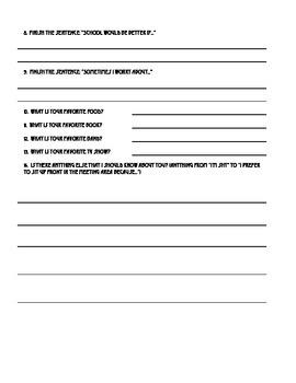 Beginning of the Year - Student Interest Survey