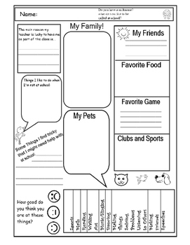 photo relating to Interest Inventory for Elementary Students Printable known as College student Attention Study Worksheets Instruction Components TpT