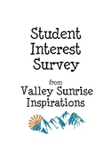 Student Interest Survey