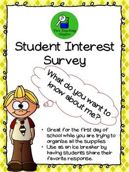Student Interest Survey: An Ice Breaker Activity