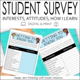 Student Interest Survey Digital and Print
