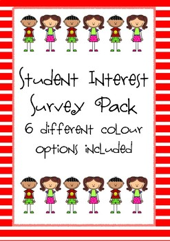 Student Interest Survey Freebie