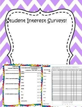 Back to School: Student Interest Survey- No Prep