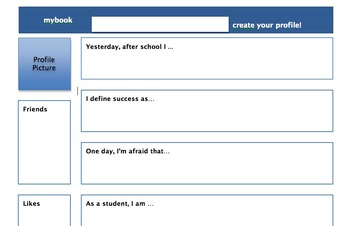 Student Interest Survey- fakebook style