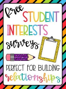 Student Interests Survey FREEBIE