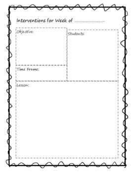Student Intervention Forms