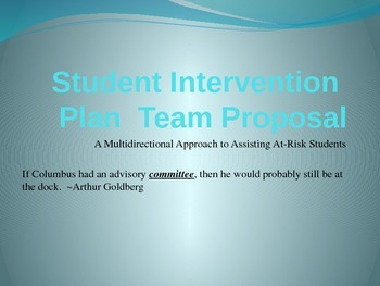 Student Intervention Plan Proposal for At-Risk Students