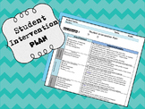 Student Intervention Plan- (RtI, Tier 1 Strategies/AIS)