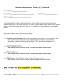Student Intervention Team (SIT) paperwork and resources