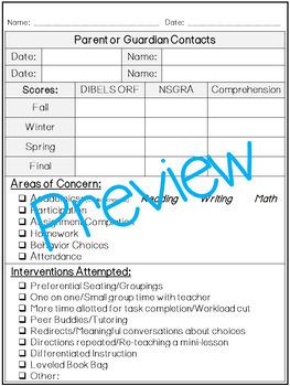 Student Intervention, Documentation & Tracking Templates!