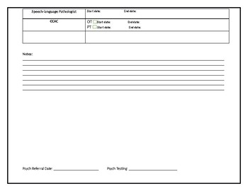 Student Intervention Tracking Sheet