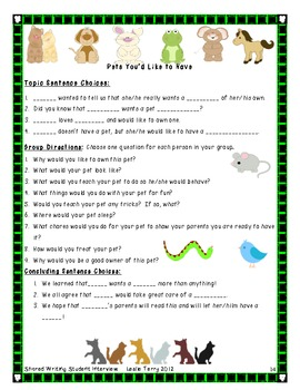Student Interview - Informational Shared Writing Experience: 1st & 2nd Grade