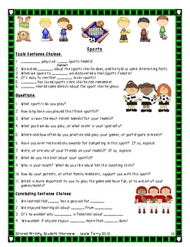 Student Interview - Informational Shared Writing Experience: 3rd & 4th Grade