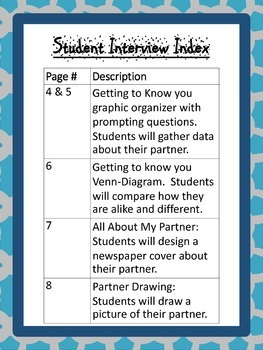 Student Interview Packet