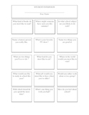 Student Interview Worksheet (First Day)