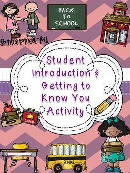 All About Me: Back to School Student Introduction Activity + Group Activity
