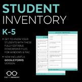 Student Inventory: Grades K-5