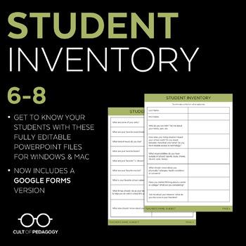 Student Inventory: Grades 6-8