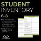 Student Inventory: Grades 6-8 (Editable)