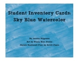 Student Inventory Cards: Sky Blue