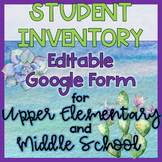 Student Inventory Survey Google Form