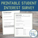 Student Inventory for Back to School: No-Prep Printable