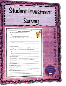 Student Investment Survey Template
