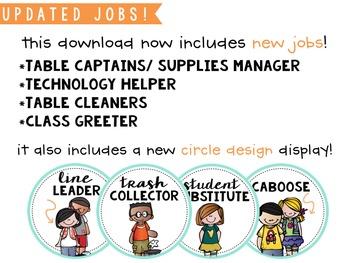 Student Job Cards BUNDLE