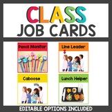 Rainbow Class Decor Student Job Cards