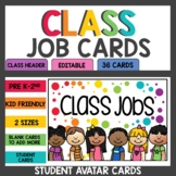 Rainbow Confetti Student Job Cards
