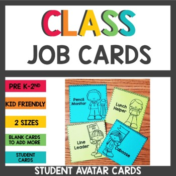 Student Job Cards Black and White
