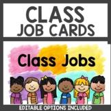 Student Job Cards Classroom Decor