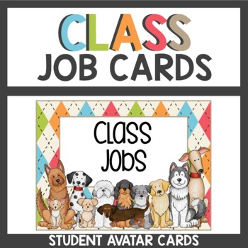 Dog Themed Student Job Cards
