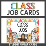 Dog Classroom Decor Themed Student Job Cards