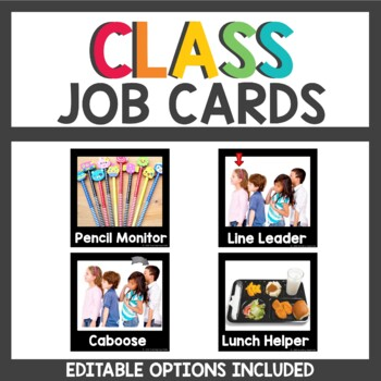Student Job Cards with Real Pictures